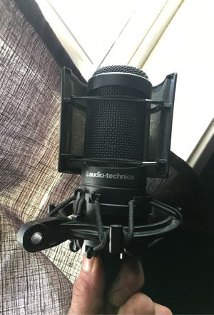 Audio technical microphone lightly used great streaming microphone comes as seen with microphone cable for Sale in Pasco, WA