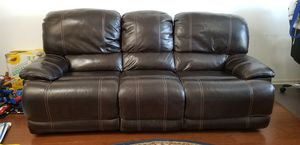 Leather power recliner 3 seat sofa in excellent condition for Sale in Westerville, OH