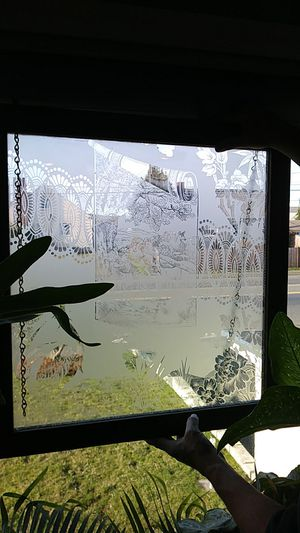Etched Victorian glass panel for Sale in Tacoma, WA