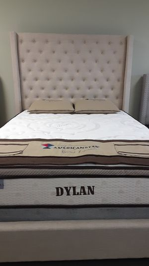 Queen size Chloe bed w/mattress and FREE DELIVERY for Sale in Irving, TX