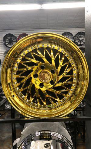 "Aodhan 18"" ds03 vacuum gold wheels rims tires fit 5x114 Honda Acura Nissan Lexus Infiniti Toyota Mazda Subaru Kia accord civic Maxima Altima g35 g37 for Sale in Queens, NY"