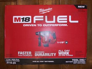 Milwaukee M18 FUEL 18-Volt Lithium-Ion Brushless Cordless 1-1/8 in. SDS-Plus Rotary Hammer (Tool-Only) for Sale in Montrose, CA