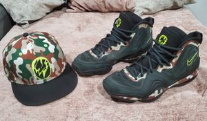 Nike Air Penny V Camo Black Spruce/Volt Men's Shoes Sz 9 + Nike Air penny V Camo for Sale in UNIVERSITY PA, MD