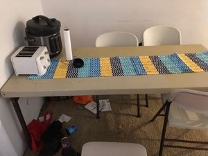 Heavy duty collapsible table and 4 chairs for Sale in Columbus, OH
