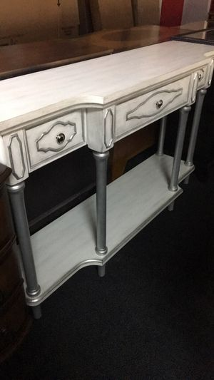 White and silver console or entryway table for Sale in Port Charlotte, FL