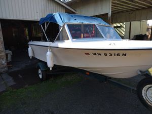 1972 boat.1969 trailer. Mid 90s motor for Sale in Tigard, OR