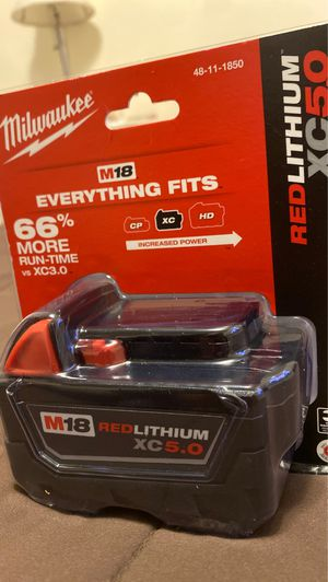 Milwaukee M18 redlithium XC 5.0 for Sale in Rutherford, NJ