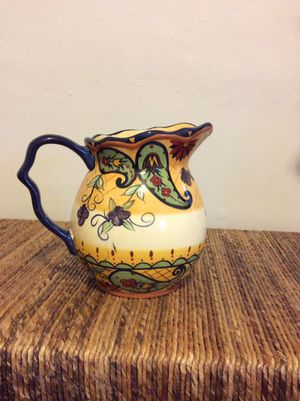 Painted Ceramic Pitcher/Vase for Sale in Columbus, OH