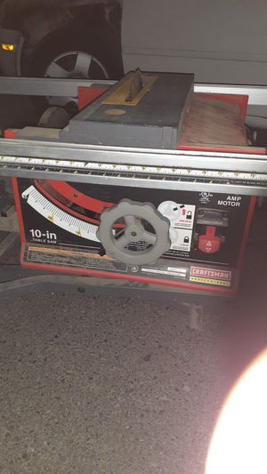 10in craftsman table saw with rolling stand works great for Sale in Portland, OR