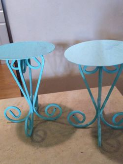 (2) Tortoise Metal Candle Holder Stands for Sale in Everett,  WA