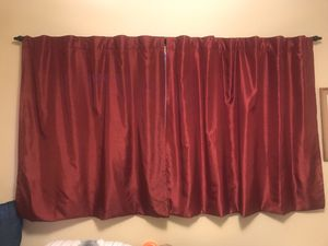 Maroon curtains for Sale in Cypress, CA