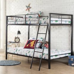 BRAND NEW Zinus Patti Quick Lock Twin over Twin Metal Bunk Bed. for Sale in Dublin,  OH