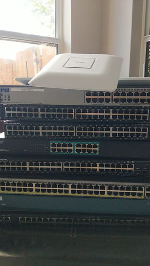 Switches, routers, unifi access points. And a laptop! for Sale in Miami, FL