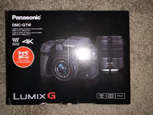 PANASONIC LUMIX G7 4K Digital Mirrorless Camera Bundle with LUMIX G Vario 14-42mm and 45-150mm Lenses, 16MP, 3-Inch Touch LCD, DMC-G7WK (USA Black) for Sale in Tigard, OR