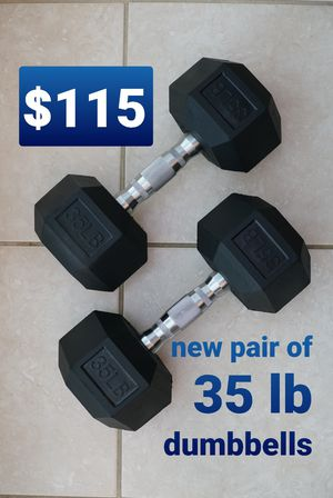 35 lb pair of hex dumbbells - New for Sale in Rancho Cucamonga, CA