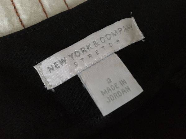 Women's New York & Company Business dress pants size 2 color Black