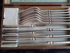EC Simmons Keen Kutter Silverware complete 12 piece set - vintage silverplate flatware for Sale in Boynton Beach, FL