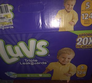 Luvs diapers size 5 (62 count) for Sale in West Richland, WA