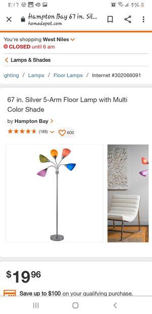 Hampton Bay floor lamp for Sale in Des Plaines, IL