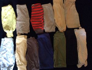 13 pairs Baby boy pants-sz. 0-3 months,also have more baby clothes for sale thanks for Sale in Chesapeake, VA