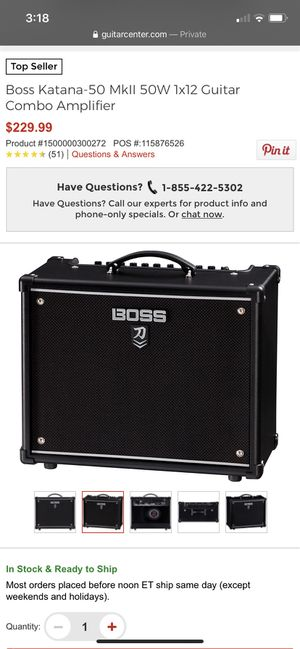 Boss Katana 50watt guitar amp for Sale in Modesto, CA