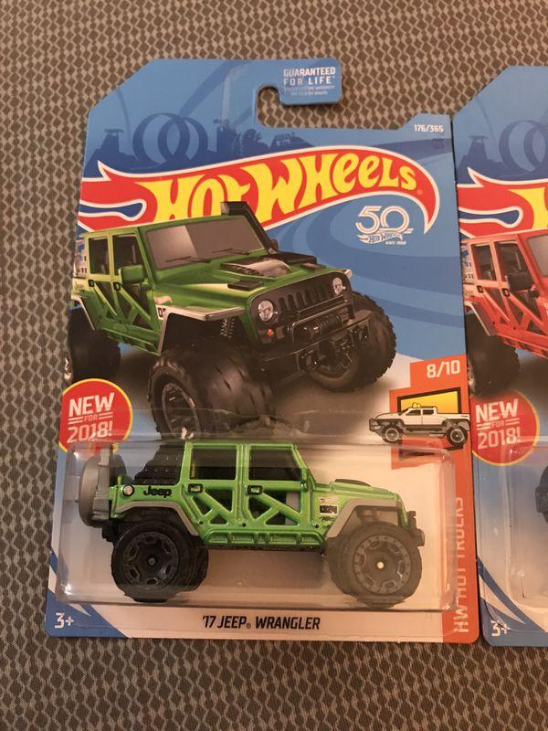 Hot wheels Jeep lot