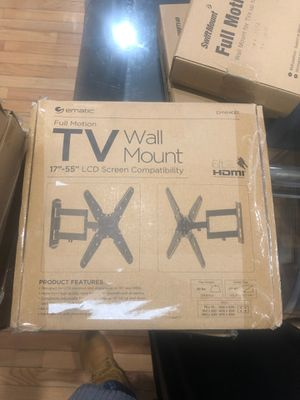 Full motion tv wall mount 17 to 55 in for Sale in The Bronx, NY
