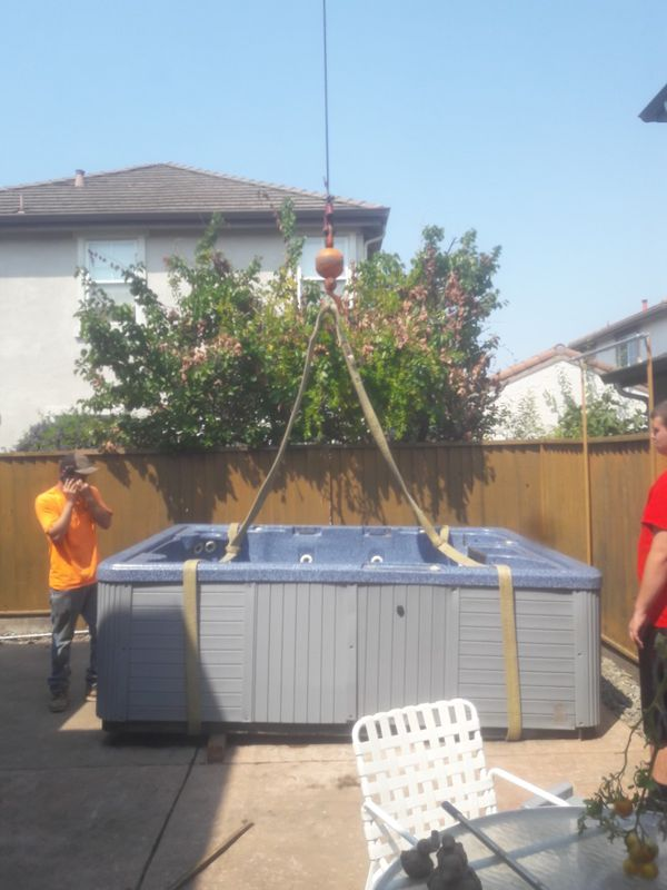 Hot tub removal and moving