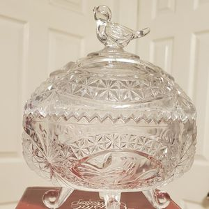 Brand New The Byrd's Collection Glass Bird Oval Storage Container $12.00 for Sale in Carson, CA