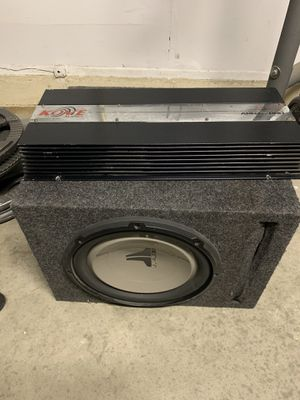 JL Audio 12 inch subwoofer and amp for Sale in Jurupa Valley, CA