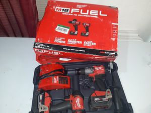 Milwaukee FUEL impact and hammer drill set for Sale in San Antonio, TX