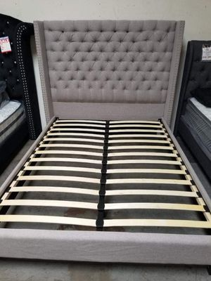 GREY QUEEN SIZE BED FRAME for Sale in Phoenix, AZ