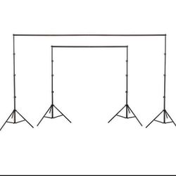 10ft x 8.5ft Backdrop Stand Adjustable Photo Background Support System Kit Live Stream Video Shooting for Sale in Chino,  CA