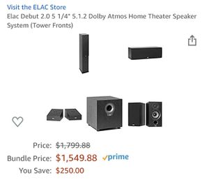 Elac & Yamaha Dolby Atmos Sound System for Sale in Federal Way, WA