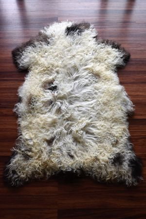Unique Natural Sheepskin Rug, Brand New, Original Leather, 2'x3' for Sale in Arlington Heights, IL
