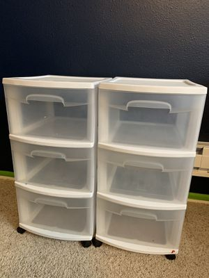 Plastic drawers Storage Organizers white for Sale in San Diego, CA