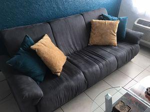 Comfortable Grey Suede Couch/ Futon for Sale in Miami Beach, FL