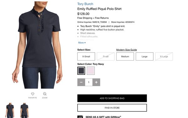 00705e9f9e0c Tory Burch Emily ruffled pique polo shirt for Sale in San Diego