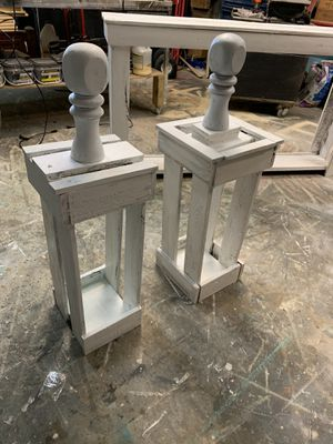 2 rustic lanterns 36 T for Sale in Bedford, TX