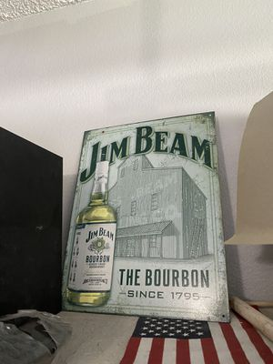 Jim beam metal sign nice for Sale in Spring Hill, FL