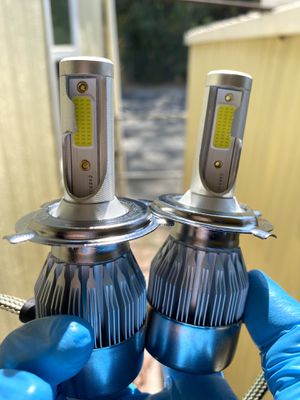 Led headlights with free license plate lights//luces led for Sale in Ontario, CA