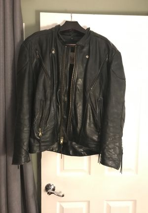 Leather motorcycle jacket for Sale in Aurora, IL