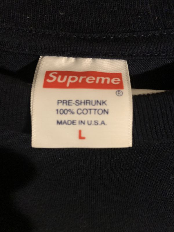 L Navy Blue Supreme Tee