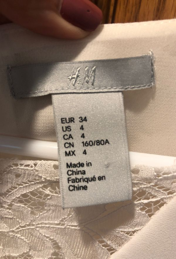 H&M Ivory/white dress