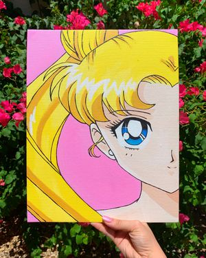 Sailor moon, Usagi painting for Sale in Glendale, AZ