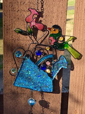 Jeweled Water Can Bird Flower Wind Chime Sun Catcher for Sale in Nashville, TN