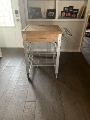 Kitchen Island cart with chopping board for Sale in Oak Point, TX