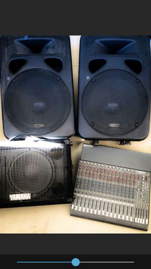DJ Audio set 2 Speakers, monitor and 16 channel mixer for Sale in Scottsdale, AZ