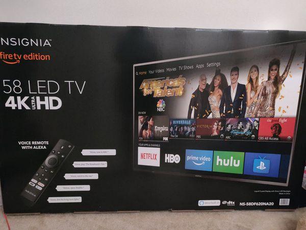 "Insignia 58"" LED 4K ultra HD, Brand New"