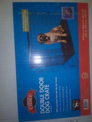 GRREAT CHOICE. DOUBLE DOOR DOG CRATE for Sale in Bloomington, CA